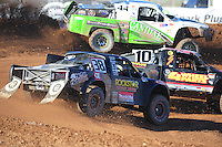 Apr 16, 2011; Surprise, AZ USA; LOORRS driver Brian Deegan (38) in traffic during round 3 at Speedworld Off Road Park. Mandatory Credit: Mark J. Rebilas-