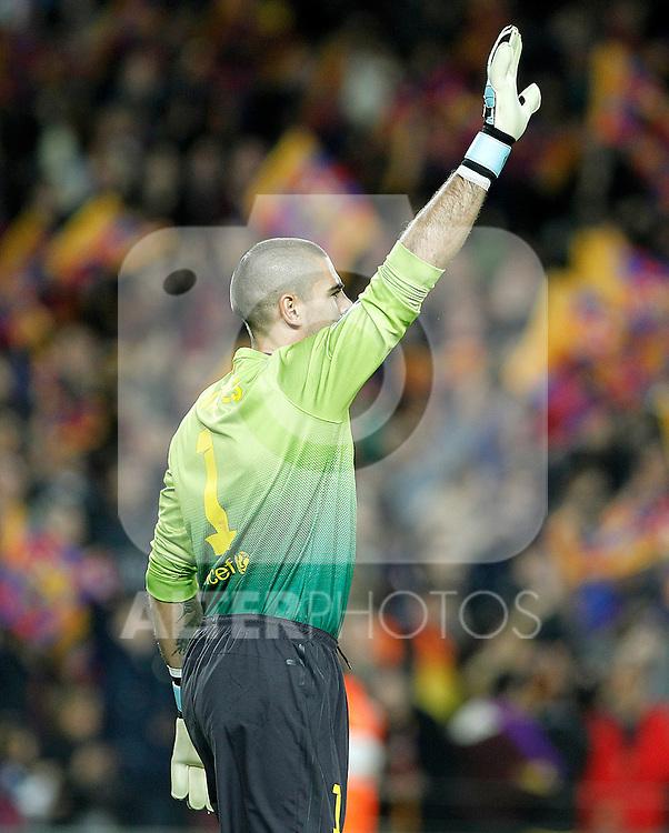 FC Barcelona's Victor Valdes during La Liga match.December 16,2012. (ALTERPHOTOS/Acero)
