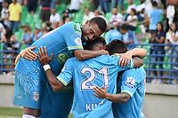 MONTERIA - COLOMBIA, 09-02-2020: Diomar Diaz de Jaguares celebra después de anotar el cuarto gol de su equipo durante el partido por la fecha 4 Liga BetPlay DIMAYOR I 2020 entre Jaguares de Córdoba F.C. y Millonarios jugado en el estadio Jaraguay de la ciudad de Montería. / Diomar Diaz of Jaguares de Cordoba F.C. celebrates after scoring the fourth goal of his team during match for the date 4 BetPlay DIMAYOR League I 2020 between Jaguares de Cordoba F.C. and Millonarios played at Jaraguay stadium in Monteria city city. Photo: VizzorImage / Andres Felipe Lopez / Cont