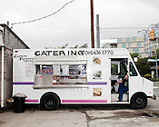 May 24, 2010. Chapel Hill, North Carolina.. Captain Poncho's Tacos, at the corner of Merritt Mill and Franklin Street in Chapel Hill.. The Triangle has seen a recent boom in the number of mobile food trucks selling everything from tacos, to Korean BBQ, to fresh juices.