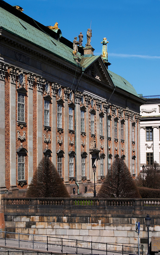 Riddarhuset, House of the Nobility, 17th century in Gamla Stan, Old Town. Stockholm. Sweden, Europe.