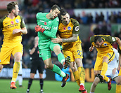 4th November 2017, Liberty Stadium, Swansea, Wales; EPL Premier League football, Swansea City versus Brighton and Hove Albion; Lukasz Fabianski of Swansea City joins the attack as Swansea City get a late corner