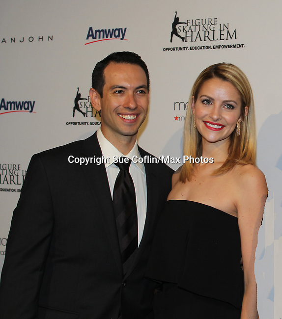 Ben Agosto & Tanith Belbin (skaters)  - The 11th Annual Skating with the Stars Gala - a benefit gala for Figure Skating in Harlemon April 11, 2016 on Park Avenue in New York City, New York with many Olympic Skaters and Celebrities. (Photo by Sue Coflin/Max Photos)