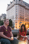 WASHINGTON, DC - SEPTEMBER 16:  Paul Mills of Silver Spring, MD, and Nichole Goble of Washington, D.C. hold candles to remember victims of gun violence during a vigil at Freedom Plaza in Washington, D.C. on Sept. 16, 2013. The vigil, during which organizers called for stricter gun laws, was in remembrance of the more than 10 killed in a shooting at the Navy Yard earlier in the day.   (Photo by Greg Kahn/Getty Images)