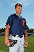 Connecticut Tigers pitcher Antonio Cruz (55) before a double header vs. the Batavia Muckdogs at Dwyer Stadium in Batavia, New York July 10, 2010.  Connecticut dropped the first game 3-5 then defeated Batavia 8-1 in the night cap.  Photo By Mike Janes/Four Seam Images