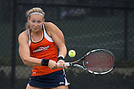 April 23, 2015; San Diego, CA, USA; Pepperdine Waves tennis player Christine Maddox during the WCC Tennis Championships at Barnes Tennis Center.