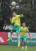 SÃO PAULO,SP,29.07.2016 - FUTEBOL-PALMEIRAS -  Edu Dracena durante treino na Academia de Futebol na Barra Funda zona oeste de São Paulo, na tarde desta sexta-feira (29). (Foto : Marcio Ribeiro / Brazil Photo Press)