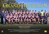 The Erina Eagles pose for their team photo before the 2018 Under 19's Central Coast Rugby League Division Grand Final at Woy Woy Oval on 16 September, 2018 in Woy Woy, NSW Australia. Photo: Paul Barkley | LookPro Photography