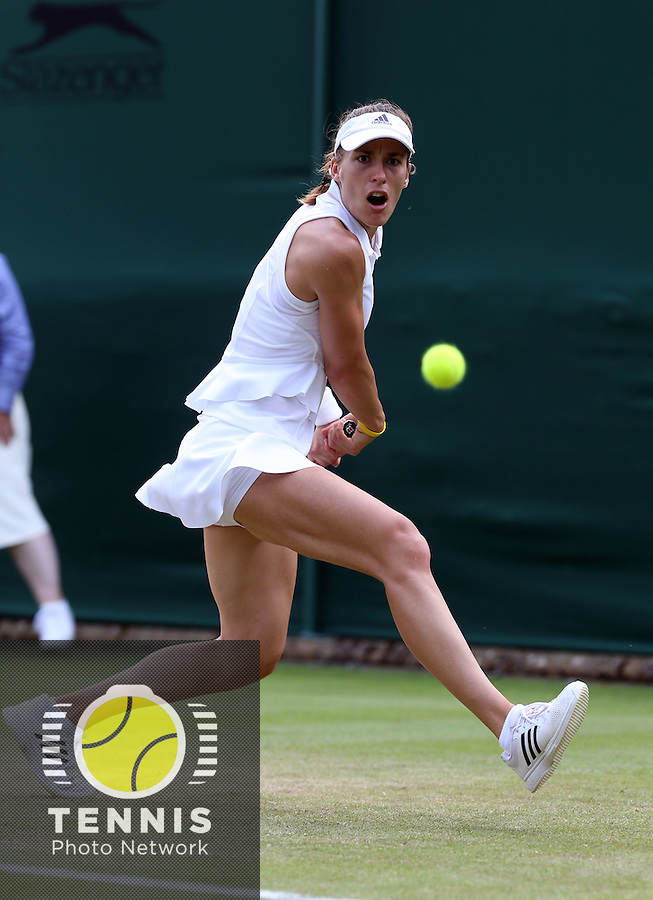 ANDREA PETKOVIC (GER)<br /> <br /> The Championships Wimbledon 2014 - The All England Lawn Tennis Club -  London - UK -  ATP - ITF - WTA-2014  - Grand Slam - Great Britain -  24th. June 2014. <br /> <br /> © J.Hasenkopf / Tennis Photo Network