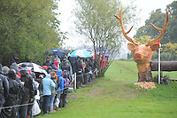Blair Atholl, Scotland, UK. 12th September, 2015. Longines  FEI European Eventing Championships 2015, Blair Castle. Spectators during the Cross country phase © Julie Priestley
