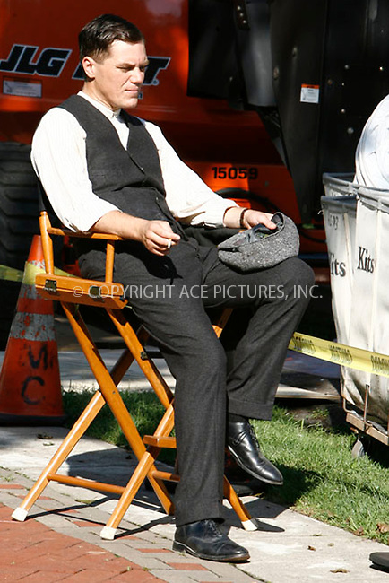 "WWW.ACEPIXS.COM . . . . . .August 17, 2011...New York City....Michael Shannon on the set of ""Boardwalk Empire""  on August 17, 2011 in New York City.....Please byline: CURTIS MEANS - ACEPIXS.COM.. . . . . . ..Ace Pictures, Inc: ..tel: (212) 243 8787 or (646) 769 0430..e-mail: info@acepixs.com..web: http://www.acepixs.com ."