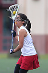 Santa Barbara, CA 02/19/11 - Angelica Acosta (Stanford #4) in action during the Stanford - Minnesota-Duluth game at the 2011 Santa Barbara Shootout.
