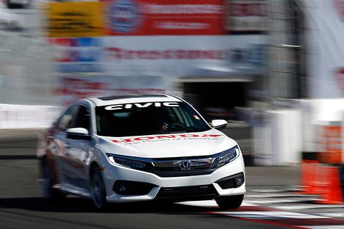 15-17 April, 2016, Long Beach, California<br /> Honda Civic Pace car<br /> ©2016, Michael L. Levitt<br /> LAT Photo USA