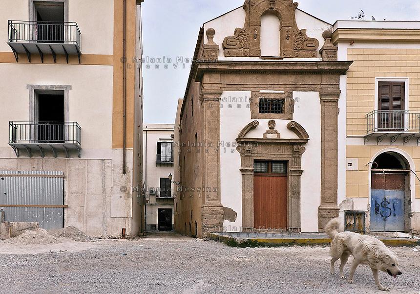 Palermo:La Chiesa dei Santi Euno e Giuliano, fu costruita tra il 1651 ed il 1658 dalla Confraternita dei Seggettieri a piazza Magione.<br /> Palermo:The Church of Saints Euno and Giuliano, was built between 1651 and 1658 by the Confraternity of Seggettieri in Magione square.