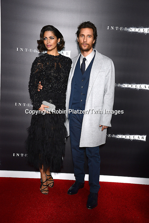 Matthew McConaughey and Camila Alves attend the New York Premiere of &quot;Interstellar&quot; on November 3 ,2014 at AMC Lincoln Square IMAX Theatre in New York City<br /> <br /> photo by Robin Platzer/Twin Images<br />  <br /> phone number 212-935-0770