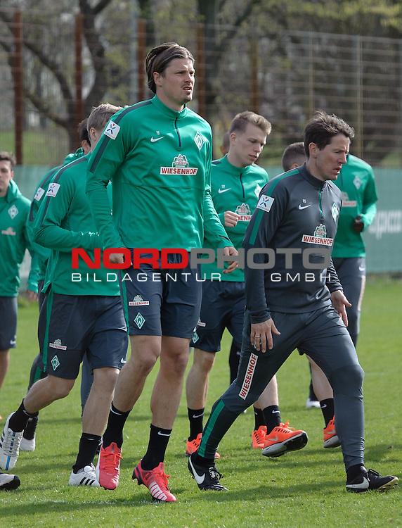 13.04.2015, Trainingsgelaende, Bremen, GER, 1.FBL, Training Werder Bremen, im Bild Sebastian Pr&ouml;dl / Proedl (Bremen #15)<br /> <br /> Foto &copy; nordphoto / Frisch