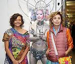 Anita Durst, Darrekll Thorne and Agatha Ruiz de La Prada attends the ChaShaMa 'Open Studios' Opening Night Reception on October 12, 2018 at the Brooklyn Army Terminal in Brooklyn, New York.