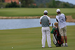 Rory McIlroy (N.IRL) and caddy J.P. Fitzgerald wait to play on the 3rd hole during the afternoon session on Day 2 of the Volvo World Match Play Championship in Finca Cortesin, Casares, Spain, 20th May 2011. (Photo Eoin Clarke/Golffile 2011)