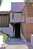 Lloyd Wright: Taggart House--Entrance.  Photo '91.