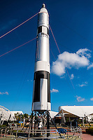 US, Florida. John F. Kennedy Space Center. Rocket Garden at the Visitor Complex. Titan II GLV (Gemini Launch Vehicle).