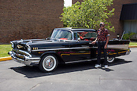 1957 Cruiser Class (#127C) – 1957 Chevrolet Bel Air 2-Door Hardtop registered to Ike Younis is pictured during 4th State Representative Chevy Show on Thursday, June 30, 2016, in Fort Wayne, Indiana. (Photo by James Brosher)