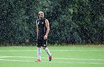 Stockholm 2014-07-27 Fotboll Superettan Hammarby IF - Tr&auml;ning :  <br /> Kennedy Bakircioglu i regnet  under Hammarbys tr&auml;ning p&aring; &Aring;rsta IP s&ouml;ndag den 27 juli 2014<br /> (Foto: Kenta J&ouml;nsson) Nyckelord:  Superettan &Aring;rsta IP Hammarby HIF Bajen Tr&auml;ning Tr&auml;na Tr&auml;nar portr&auml;tt portrait