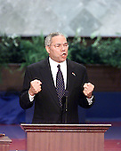 Philadelphia, PA - July 31, 2000 -- General Colin L. Powell (United States Army, Retired) speaks at the first night session of the 2000 Republican National Convention in Philadelphia, Pennsylvania on Monday, July 31, 2000..Credit: Ron Sachs - CNP