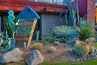 Desert Art Collection of  Sculpture, Palm Desert, CA, Art Display, Catcus Garden, Desert Landscaping, Vertical