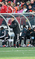 26 April 2009: Toronto FC Interim coach Chris Cummings shows his support for his team during an MLS game between Kansas City Wizards and Toronto FC.Toronto FC won 1-0. .