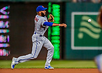 21 September 2018: New York Mets outfielder Amed Rosario gets the second out in the bottom of the 1st inning against the Washington Nationals at Nationals Park in Washington, DC. The Mets defeated the Nationals 4-2 in the second game of their 4-game series. Mandatory Credit: Ed Wolfstein Photo *** RAW (NEF) Image File Available ***