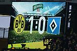 10.02.2018, Signal Iduna Park, Dortmund, GER, 1.FBL, Borussia Dortmund vs Hamburger SV, <br /> <br /> im Bild | picture shows:<br /> Anzeigetafel mit Ergebnis, <br /> <br /> Foto &copy; nordphoto / Rauch