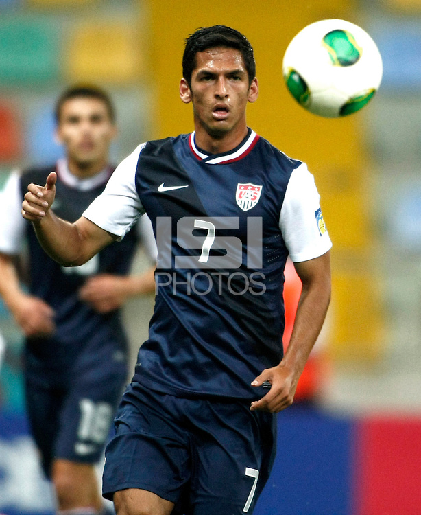 USA's Victor Pineda during their FIFA U-20 World Cup Turkey 2013 Group Stage Group A soccer match Ghana betwen USA at the Kadir Has stadium in Kayseri on June 27, 2013. Photo by Aykut AKICI/isiphotos.com