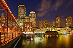 Boston Skyline at dusk, Boston, Massachusetts, USA.