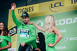 Peter Sagan (SVK) Bora-Hansgrohe retains the points Green Jersey at the end of Stage 19 of the 2019 Tour de France originally running 126.5km from Saint-Jean-de-Maurienne to Tignes but cut short to 88.5 km, France. 26th July 2019.<br /> Picture: ASO/Thomas Maheux | Cyclefile<br /> All photos usage must carry mandatory copyright credit (© Cyclefile | ASO/Thomas Maheux)