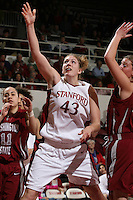 8 February 2007: Stanford Cardinal Kristen Newlin during Stanford's 60-34 win against the Washington State Cougars at Maples Pavilion in Stanford, CA.