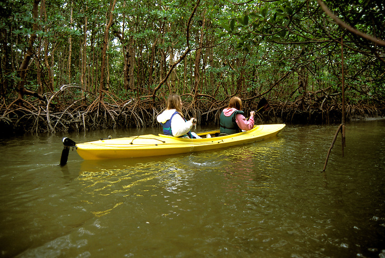 FL: Florida Everglades National Park,.Kayaking near Marco Island..Photo Copyright: Lee Foster, lee@fostertravel.com, www.fostertravel.com, (510) 549-2202.Image: flever236