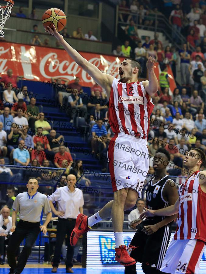 Kosarka Kosarkaska Liga Srbije season 2014-2015<br /> Crvena Zvezda v Partizan<br /> Nikola Kalinic (C)<br /> Belgrade, 05.17.2015.<br /> foto: Srdjan Stevanovic/Starsportphoto &copy;