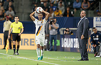 Carson, CA - September 3, 2016: The LA Galaxy defeat the Columbus Crew 2-1 in a Major League Soccer (MLS) match at StubHub Center.