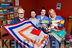 Ann Dowley Spillane from Blankets of Hope presenting hand-knitted blankets for cancer patients to the Oncology Unit at University Hospital Kerry on Thursday morning to Theresa Walsh (Clinical Nurse Manager II), and oncology nurses Michelle Doolan and Sinead Dunne.