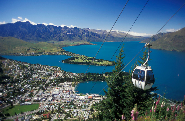 Tram ride above Queenstown & Lake Wakatipu