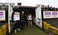 Picture by Anna Gowthorpe/SWpix.com - 15/04/2018 - Rugby League - Womens Super League - Bradford Bulls v Leeds Rhinos - Coral Windows Stadium, Bradford, England - The teams wait in the tunnel