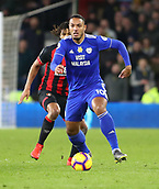 2nd February 2019, Cardiff City Stadium, Cardiff, Wales; EPL Premier League football, Cardiff City versus AFC Bournemouth; Kenneth Zohore of Cardiff City