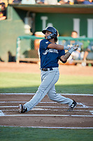 Eddie Silva (11) of the Helena Brewers bats against the Ogden Raptors at Lindquist Field on July 14, 2018 in Ogden, Utah. Ogden defeated Helena 8-6. (Stephen Smith/Four Seam Images)