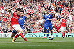 Hector Bellerin of Arsenal scoring the opening goal during the English Premier League match at the White Hart Lane Stadium, London. Picture date: May 21st 2017.Pic credit should read: Charlie Forgham-Bailey/Sportimage
