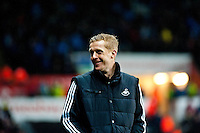 Saturday 2nd Febuaray 2014<br /> Pictured: Garry Monk, Manager of Swansea City<br /> Re: Barclays Premier League Swansea City FC  v Cardiff City FC at the Liberty Stadium, Swansea