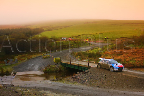 28.10.2016. Deeside Remote Service, Ruthin, Wales, WRC Dayinsure Rally, day 1. LOUBET
