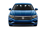 Car photography straight front view of a 2019 Volkswagen Jetta S 4 Door Sedan