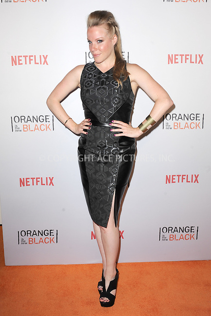 WWW.ACEPIXS.COM<br /> June 11, 2015 New York City<br /> <br /> Emma Myles attending the 'Orangecon' Fan Event at Skylight Clarkson SQ on June 11, 2015 in New York City.<br /> <br /> Credit : Kristin Callahan/ACE Pictures<br /> Tel: (646) 769 0430<br /> e-mail: info@acepixs.com<br /> web: http://www.acepixs.com