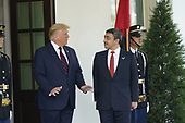 United States President Donald J. Trump welcomes Sheikh Abdullah bin Zayed bin Sultan Al Nahyan, Minister of Foreign Affairs and International Cooperation of the United Arab Emirates, to the White House in Washington, DC on Tuesday, September 15, 2020.  Dr. Alzayani is in Washington to sign the Abraham Accords, a peace treaty with the State of Israel.<br /> Credit: Chris Kleponis / Pool via CNP