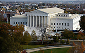The United States Supreme Court Building can be seen from the top of the recently restored US Capitol dome, November 15, 2016 in Washington, DC. <br /> Credit: Olivier Douliery / Pool via CNP